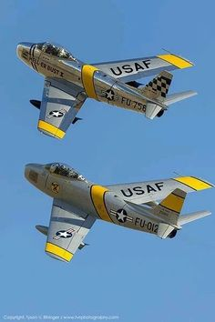 F 86 Sabre Jets Fighter aircraft, Korean war era.