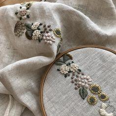#embroidery #刺繍 #樋口愉美子 #樋口愉美子の刺繍時間 #ハンドメイド #手仕事 オーバルの図案を直線で♪