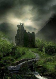 Wyldraven Castle, Scotland - Inspiration for Inverfyre in The Warrior Beautiful Castles, Beautiful World, Beautiful Places, Scotland Castles, Scottish Castles, Beaux Arts Architecture, Castle Ruins, Medieval Castle, Abandoned Places