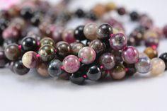 natural tourmaline beads - tourmaline round beads - tourmaline gemstone beads - rainbow tourmaline beads - round bead 5-8mm -15inch