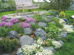 Garden Landscaping rock-garden-design-landscaping-ideas - Rock gardens are a fantastic way of adding unique shapes and textures of rocks and garden landscape ideas that give a natural feel to your backyard or front yard decorating Landscaping With Rocks, Front Yard Landscaping, Backyard Landscaping, Landscaping Ideas, Landscaping Software, Luxury Landscaping, Landscaping Company, Backyard Ideas, Backyard Garden Landscape