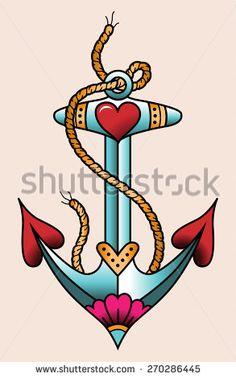 swallow anchor old school tattoo - Pesquisa Google