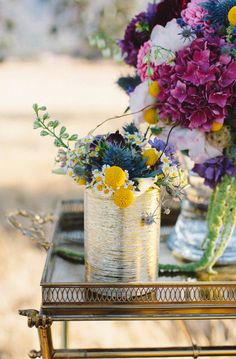 rich florals + golds // photo by Katie Shuler Photography