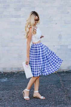 A Little Dash of Darling: Crop top and midi skirt.