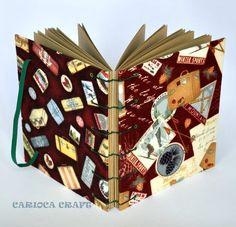 Caderno de Viagem artesanal em costura Copta  Miolo em papel Marakech 180g  capa em tecido importado  120 páginas, mais levinho para levar na bolsa R$58,00