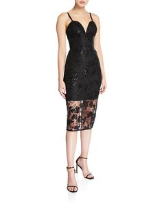 Dress The Population Addison Sweetheart Sleeveless Lace Illusion Dress In Black Illusion Dress, Dress The Population, Sheath Dress, Luxury Fashion, Formal Dresses, Lace, Clothes, Style, Dresses For Formal