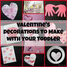 Syncopated Mama: Valentine's Day Decorations to Make with Your Litt...