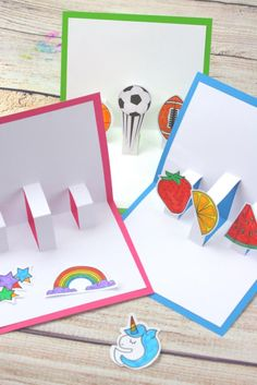 Easy Craft Projects, Clay Projects, Projects For Kids, Diy Crafts Videos, Diy Crafts To Sell, Diy Crafts For Kids, 3d Templates, Pop Up Card Templates, Pop Up Cards
