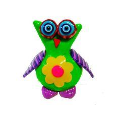 Owl sculpture decor , polymer clay, handmade, animal sculpture ,decoration