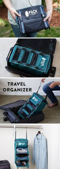 This travel organizer weighs less than a t-shirt, and built-in hooks let you keep your items more organized. Definitely convenient for when you're traveling a lot and not staying in one place for very long! This lets you unpack without having to go through the whole process every time. A good item to have when taking a trip!