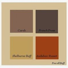 Powell Buff on outside and complimentary colors in squares  Rust color as accent ?????