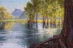 YOSEMITE CURRENT - landscape painting by Mark Christopher Weber