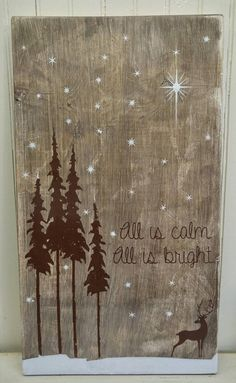 All is calm. All is bright. Holiday Sign by ThePaintedSignCo