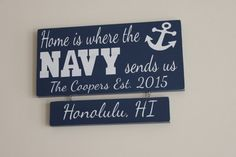 Navy Family Wood Sign, Custom Family Name Sign, Navy Family Wood Art, Personalized Navy Family Wood Sign, Navy Marriage Wood Sign  This sign