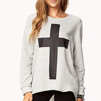High-Low Cross Top | FOREVER 21 - 2074823041