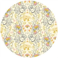 Sarah Watts, TImber & Leaf, Brush Bear Ivory  $5.00 for half a yard