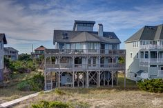 boarded shared walk, one house over. across from food lion. ok decor Obx Rentals, Food Lion, Outer Banks Vacation Rentals, Hatteras Island, Real Estate, Mansions, House Styles, Beach, Decor