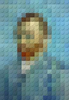 Recreated Masterpieces with Lego Effect