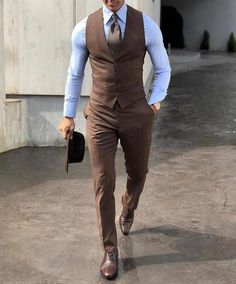 Mens classy outfits, classy suits, dress pants, men dress, mens fashion s. Mens Fashion Suits, Mens Suits, Classy Mens Fashion, Brown Tweed Suit, Brown Suits For Men, Mens Classy Outfits, Suit For Men, Mens Office Fashion, Mens Suit Vest