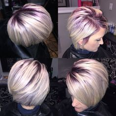 blonde hair purple roots short - Google Search