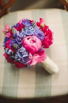 Gorgeous bouquet of pinks and purples