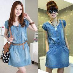 Resultado de imagen para vestidos de jean para mujer
