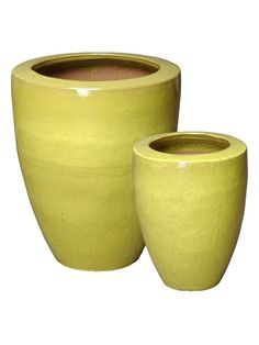 PhilMichael.com - Yellow Green Planters - Set of Two, $519.99 (http://philmichael.com/yellow-green-planters-set-of-two/)