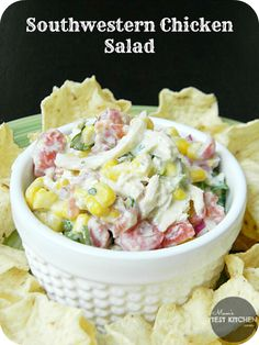Southwestern Chicken Salad - This flavorful twist on classic chicken salad is a perfect quick and easy recipe.