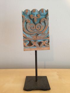 Carved Wood Trim From India On Stand