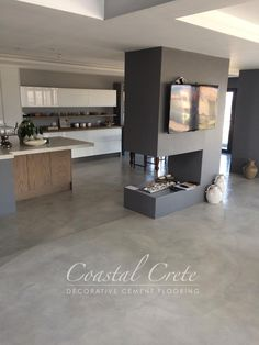 Coastal Crete Flooring | Ash Grey Colour Screed Flooring | Smooth | Seamless