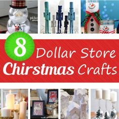 8 Dollar Store Christmas Crafts (DIY home sweet home) Christmas Crafts To Make, Easy Christmas Decorations, Dollar Store Christmas, Christmas Lanterns, Christmas Mason Jars, Winter Crafts For Kids, Dollar Store Crafts, Dollar Stores, Holiday Wreaths