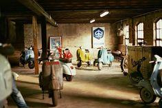 Vintage Piaggio Vespa showroom