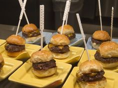 Sliders at the new Bacchanal Buffet at Caesars Palace. One of the best buffets in Las Vegas