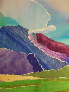 Watercolor Collage-Mountain Landscape-Grade 8