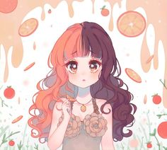 Orange Juice by on DeviantArt Arte Do Kawaii, Kawaii Art, Kawaii Anime, Melanie Martinez Anime, Melanie Martinez Drawings, Cry Baby, Aesthetic Art, Aesthetic Anime, Celebrity Drawings