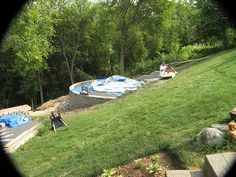 Newbie agp install on steep slope mn above ground - Building a swimming pool on a slope ...