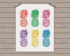 Preppy Printshop: New Arrivals Colorful Pineapple Print