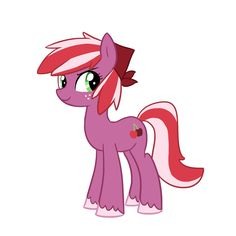 Red June, daughter of Big Mac and Cheerilee(even though i like FlutterMac much better)!