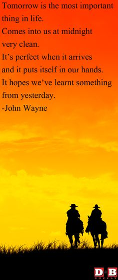 John Wayne Wisdom.
