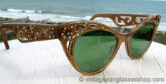 Vintage 1950s and 1960s Cat's Eye Sunglasses @ Vintage Sunglasses Shop