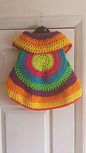 Ravelry: Bella's Circle Waistcoat pattern by Charlotte Hobson free crochet circle shrug 2-3 years