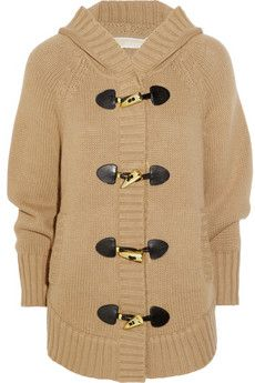 Michael Kors Hooded Knit Poncho via Net-A-Porter. Such an easy look to pull off.