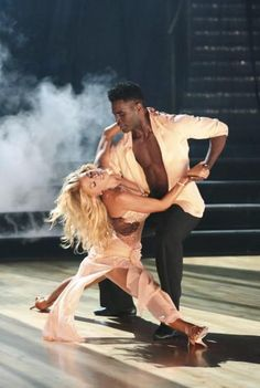 """Dancing With the Stars  -  Keo Motsepe & Charlotte McKinney danced a  rhumba to  Shakira's """"Empire""""  -  Season 20  -  week-3  -  Spring 2015  -   6+5+5+6  -  22  -  This week's scores, however, were irrelevant since last week's votes were already in they found out at the end of the show that they were the 2nd team to be eliminated this season."""