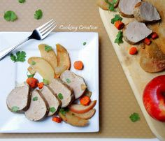 Simple Roasted Pork Tenderloin with Apples - a pretty delicious taste of fall!
