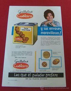 1960 PUBLICIDAD DE GALLETAS CUÉTARA ANUNCIO ORIGINAL DE PRENSA
