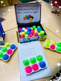 Put fractions on each one, students put them in order from least to greatest - Mathe Ideen 2020 Teaching Activities, Teaching Math, Activities For Kids, Math Classroom, Kindergarten Math, Kids Math, Fractions, Maths 3e, Maths Games Ks1