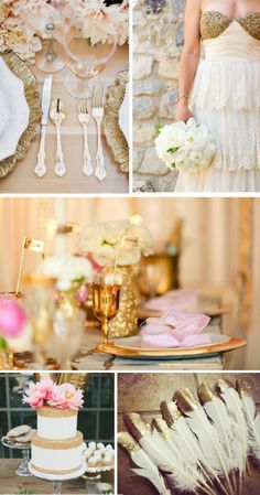 no idea what they did with those feathers. Myrtle Beach Wedding, Parisian Wedding, Pink And Gold Wedding, Gold Birthday Party, Dream Wedding, Wedding Stuff, All You Need Is Love, Gold Sparkle, Gold Glitter