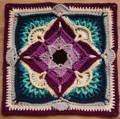 Ravelry: Project Gallery for patterns from Polly Plum Designs Crochet Bunting, Crochet Squares Afghan, Crochet Blocks, Granny Square Crochet Pattern, Crochet Stitches Patterns, Crochet Art, Crochet Motif, Stitch Patterns, Knitting Patterns