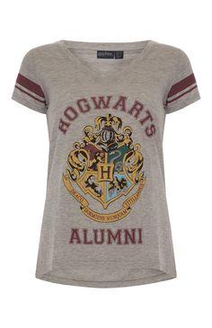 Primark - Grey Harry Potter V Neck T-Shirt