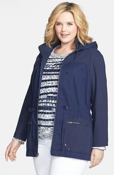 Sejour 'Megan' Anorak Jacket (Plus Size) available at #Nordstrom $128